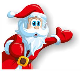 Weihnachtsmann bietet an