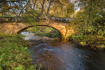 River Wansbeck below Kirkwhelpington Bridge / The River Wansbeck rises in the Northumberland hills above Sweethope Lough, then journeys towards the North Sea near Newbiggin