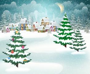Christmas winter village