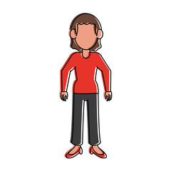 Woman cartoon avatar icon vector illustration graphic design