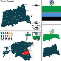 Map of Tartu, Estonia