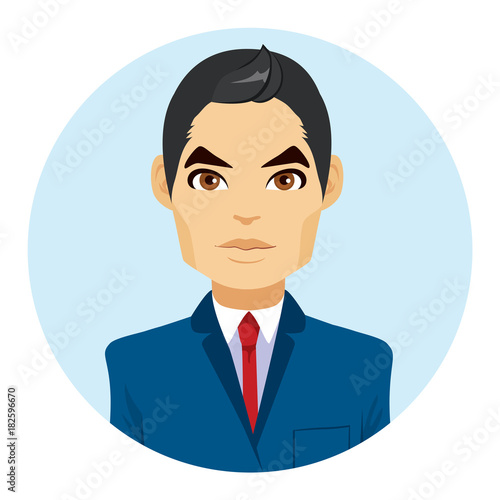 """Avatar 2 X 12: """"Young Attractive Asian Man Portrait Avatar Wearing"""