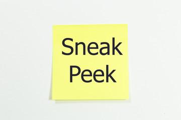 Sneak Peek written