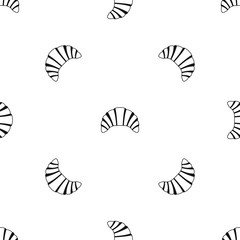 Croissant pattern seamless black