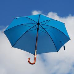 Blue Umbrella in the Sky