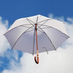 White Umbrella in the Sky