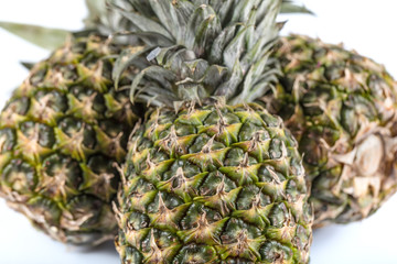 Isolated pineapple on white ground