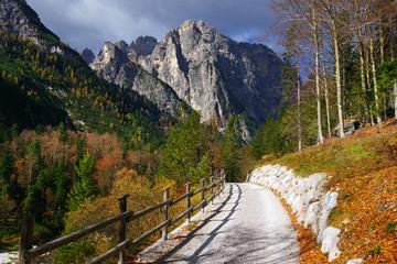 Alpine landscape in Brenta Dolomites, Italy, Europe