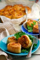 chicken cordon bleu crescent rolls.style rustic