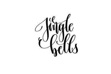 jingle bells - hand lettering inscription for christmas holidays