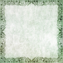 Old paper with floral frame
