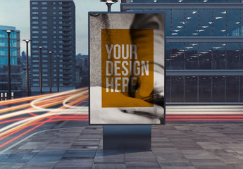 Outdoor Kiosk Advertisement Mockup 3