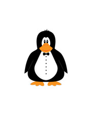 Cute cartoon penguin character