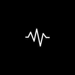 Vector flat icon cardiogram