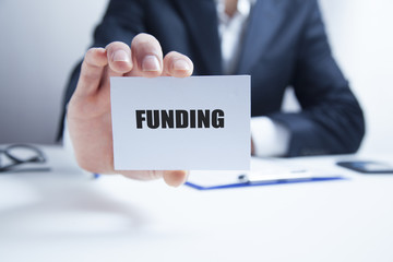 funding text on card