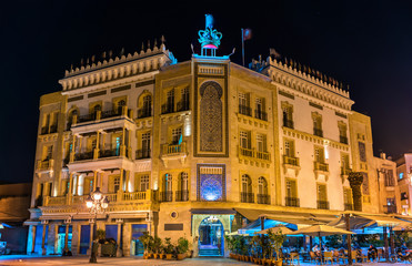 Building on Victory Square in Tunis. Tunisia, North Africa