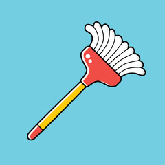 Cleaning broom.