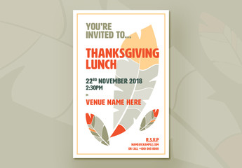 Thanksgiving Event Flyer Layout 02