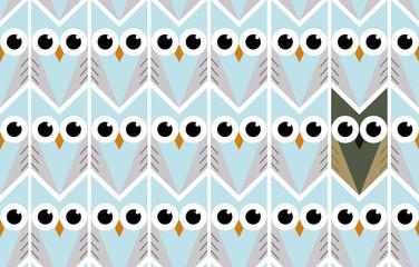 Owl background illustration