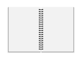 Blank open notebook. Vector illustration