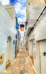 Traditional houses in Medina of Hammamet, Tunisia