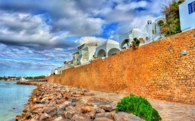 Medina of Hammamet on the Mediterranean coast in Tunisia