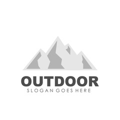 Mountain, outdoor and adventure logo design template