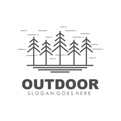 Camping, outdoor and adventure logo design template