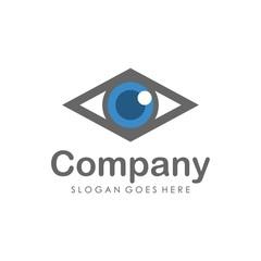 Eyes vision logo design template