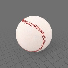 Baseball with red stitching 1