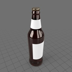 Beer bottle with blank label