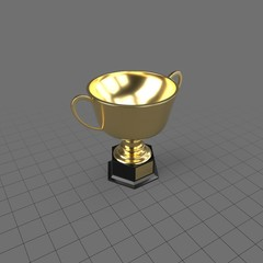 Gold trophy with handles