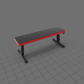 Athletic bench for gym
