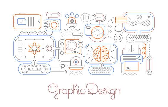 Graphic Design vector line art