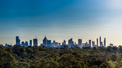A large panorama of the city of Melbourne, Victoria, Australia