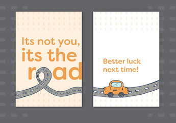 Driving Test Condolence Card Layout