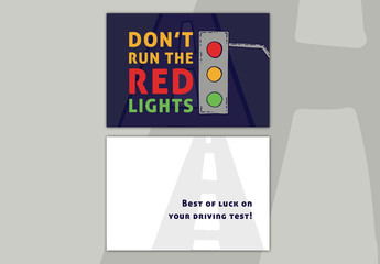 Driving Test Congratulations Card Layout 01