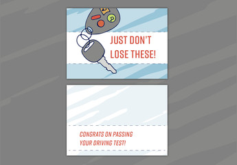 Driving Test Congratulations Card Layout 03