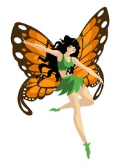 magical butterfly fairy woman