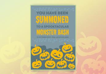Halloween Party Invitation Layout 4