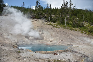 Beryl Spring at Yellowstone National Park in the USA