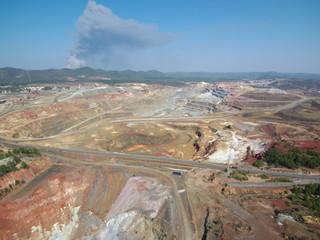 Minas de Rio Tinto en Huelva ( Andalucia,España) Fotografia aerea con drone