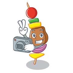 Photography barbecue character cartoon style