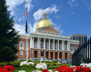 Massachusetts State House in Beacon Hill, Boston
