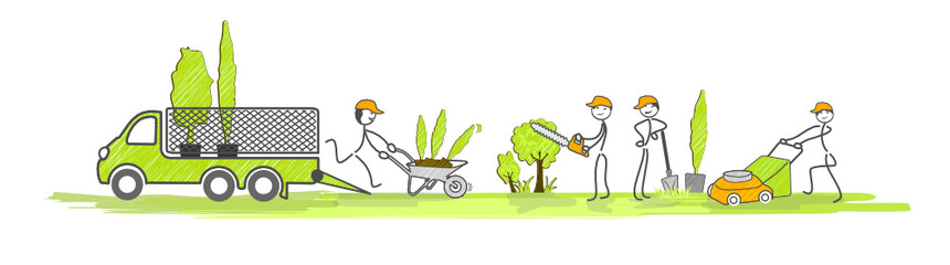 jardiniers au travail