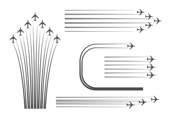 Scheme building of flights of combat aircraft at an Airshow