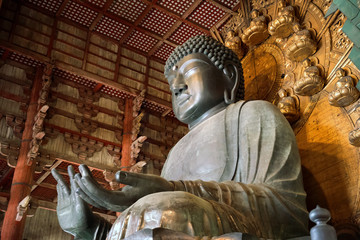 The Great Buddha (Daibutsu-Den) at Todai-ji temple in Nara, Japan