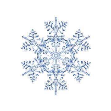 雪の結晶 水彩 ベクター イラスト