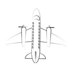 Airplane with turbines icon vector illustration graphic design