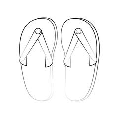 Flip flops sandals icon vector illustration graphic design